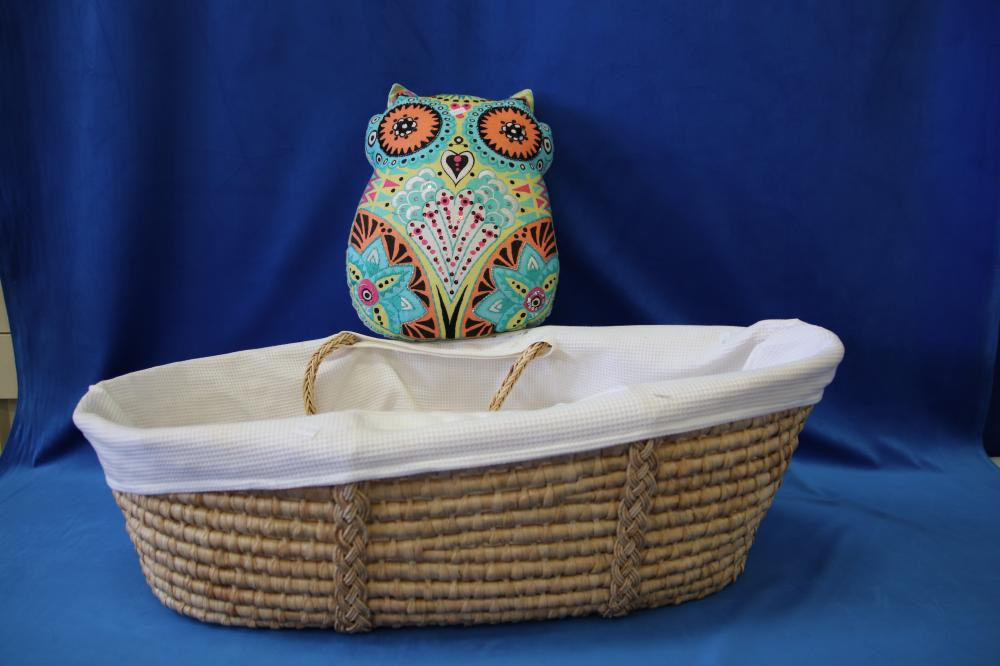 BABY/DOLLS BASKET , OWL CUSHION , CHILDRENS MOSQUITO NET & OTHER KIDS ITEMS
