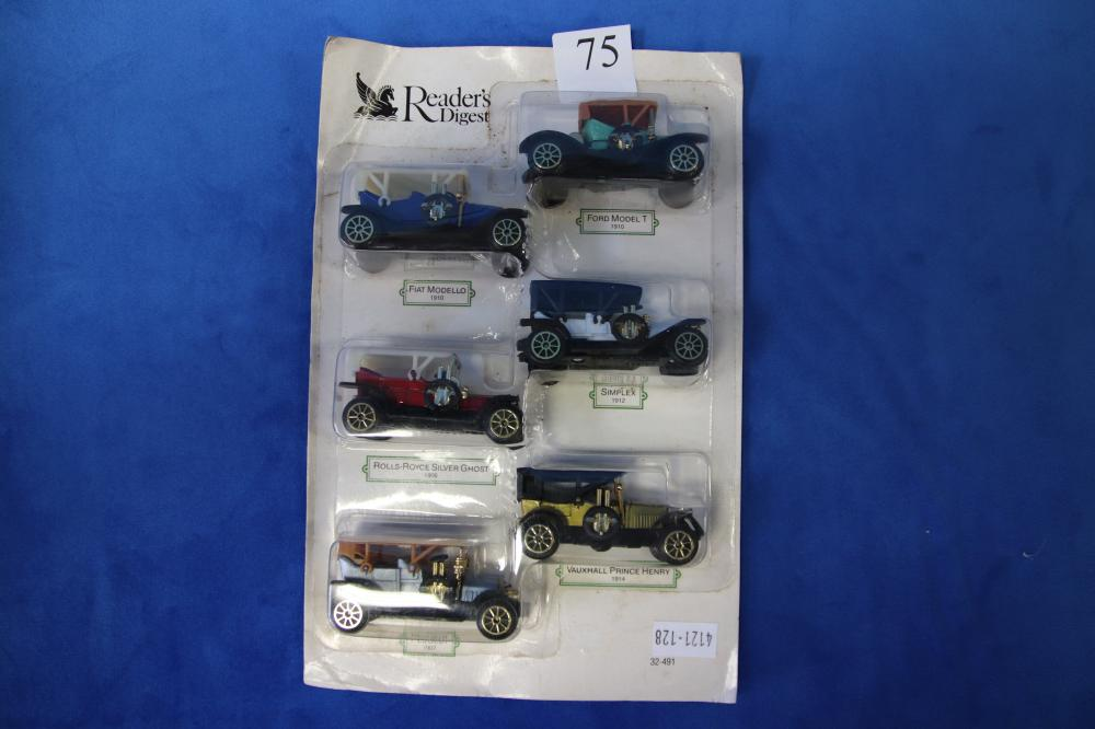 2 BATTERY OPERATED MODEL CARS (1 IS A SHELL ONLY), LORD OF THE RINGS TOY & PACK OF SMALL MODEL CARS (634,587)