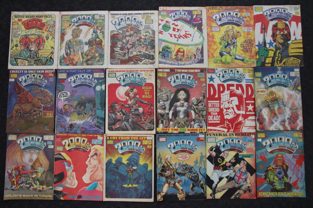 SELECTION OF COMICS 2000 AD FEATURING JUDGE DREDD