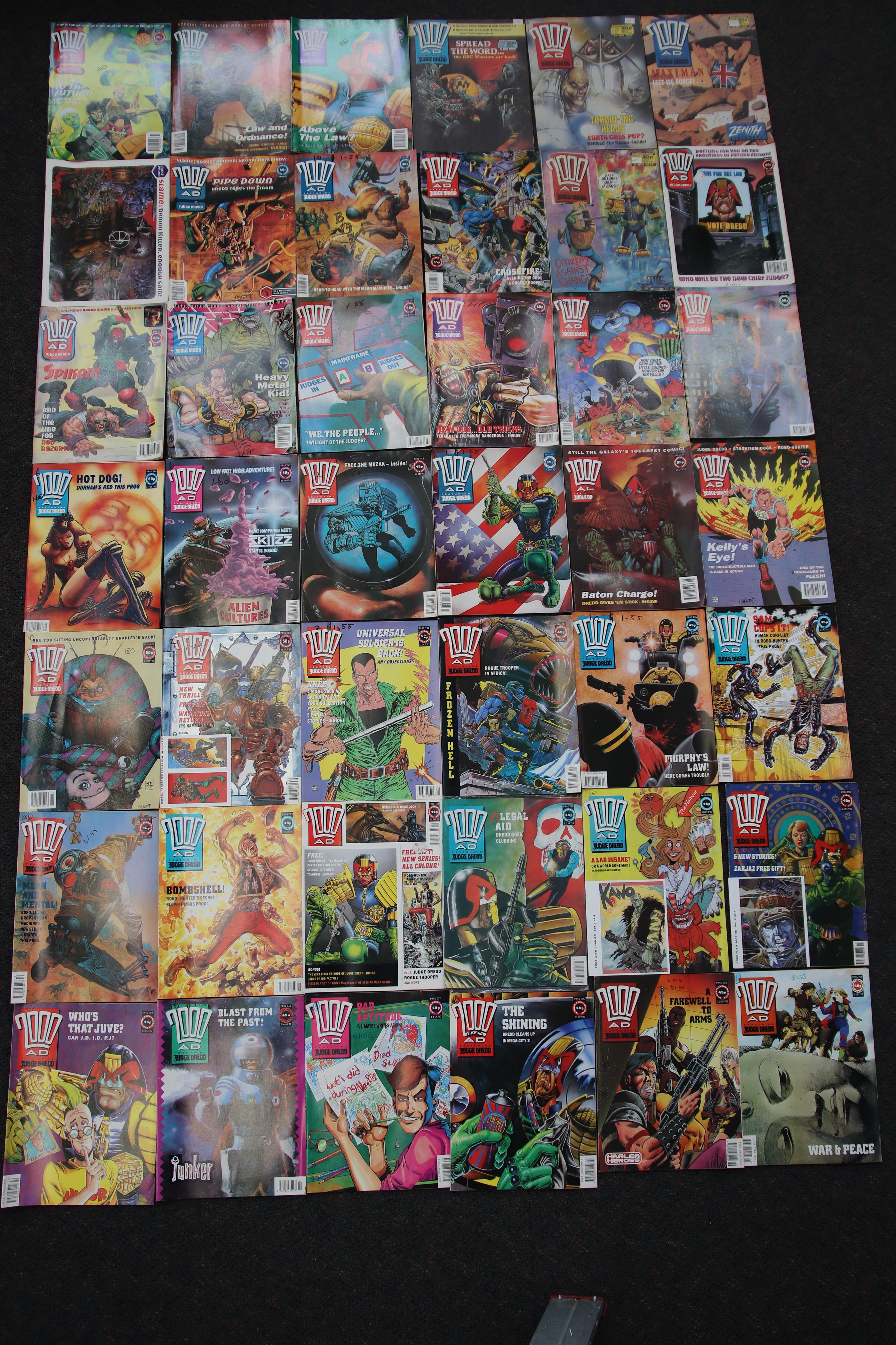 SELECTION OF COMICS 2000 AS FEATURING JUDGE DREDD