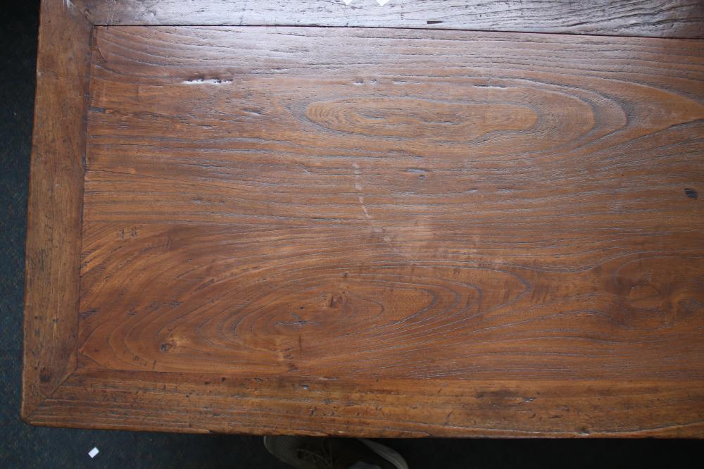 CHINESE ELM PRAYER/TABLE PROVENANCE MOSSGREEN W2110MM H 510MM D 630MM
