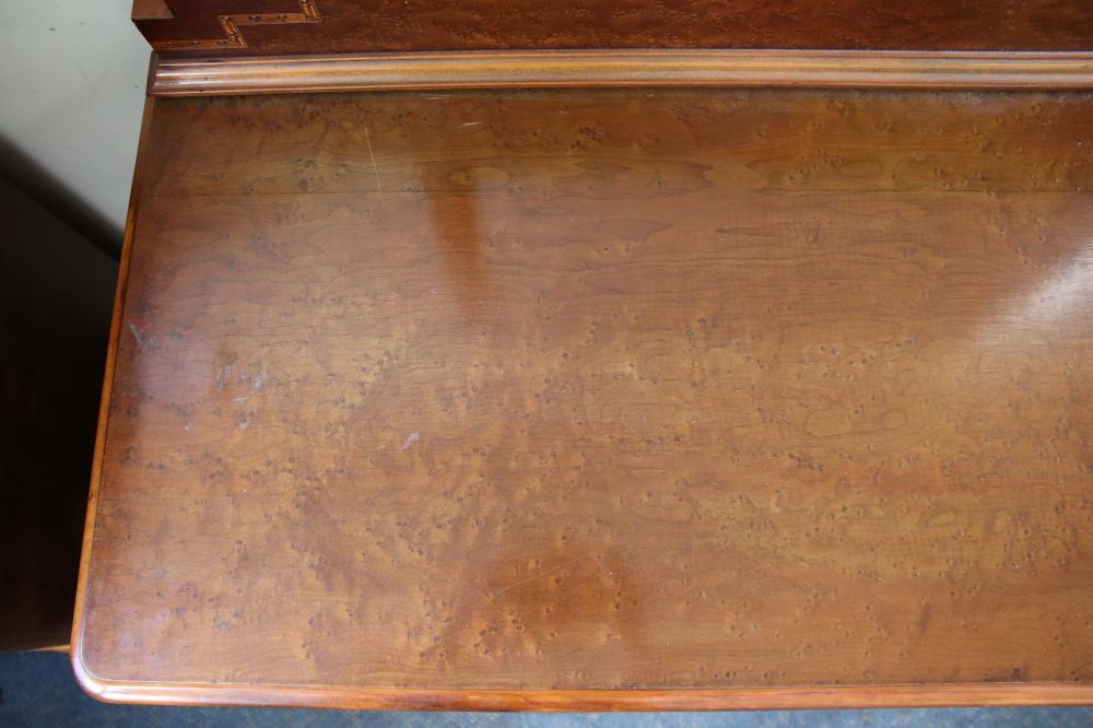 ART DECO BURR WALNUT DRESSING TABLE, 6 DRAWERS, MIRROR