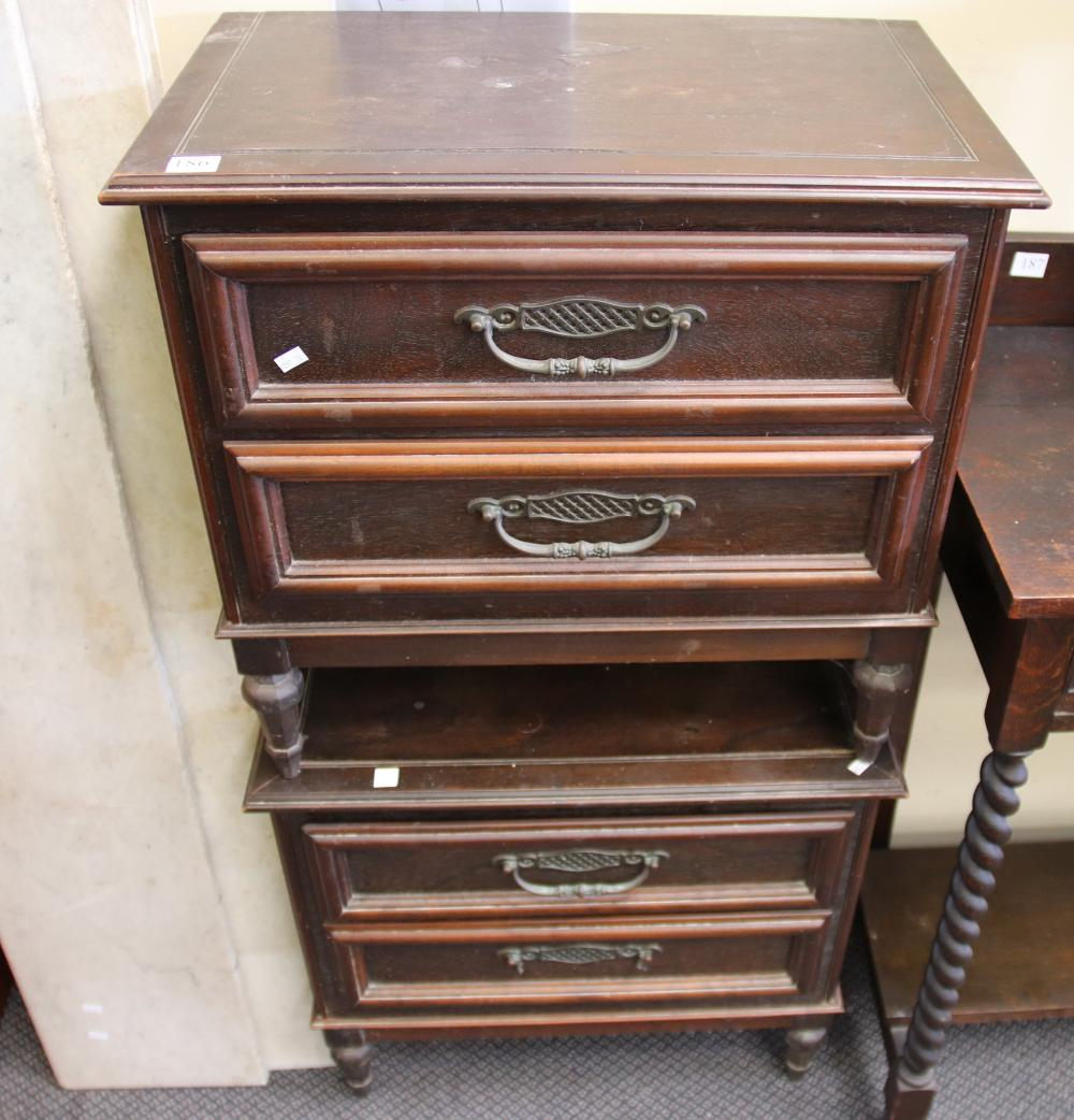 PAIR OF BEDSIDE CABINETS