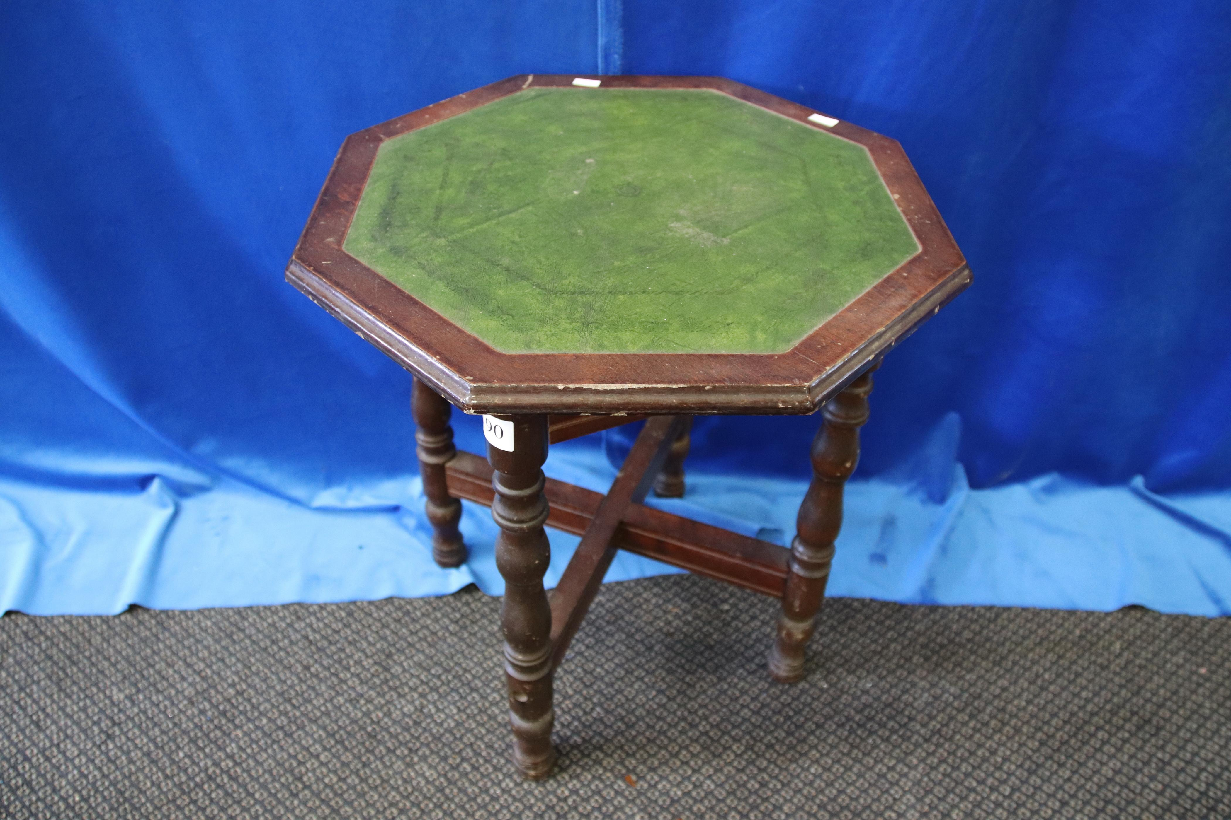 OCCASIONAL TABLE WITH LEATHER INSERT