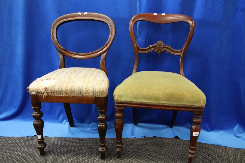 2 DIFFERENT OVAL BACK DINING CHAIRS