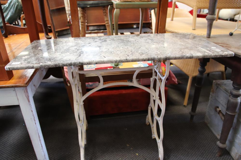 MARBLE TOP SINGER SEWING TABLE BASE