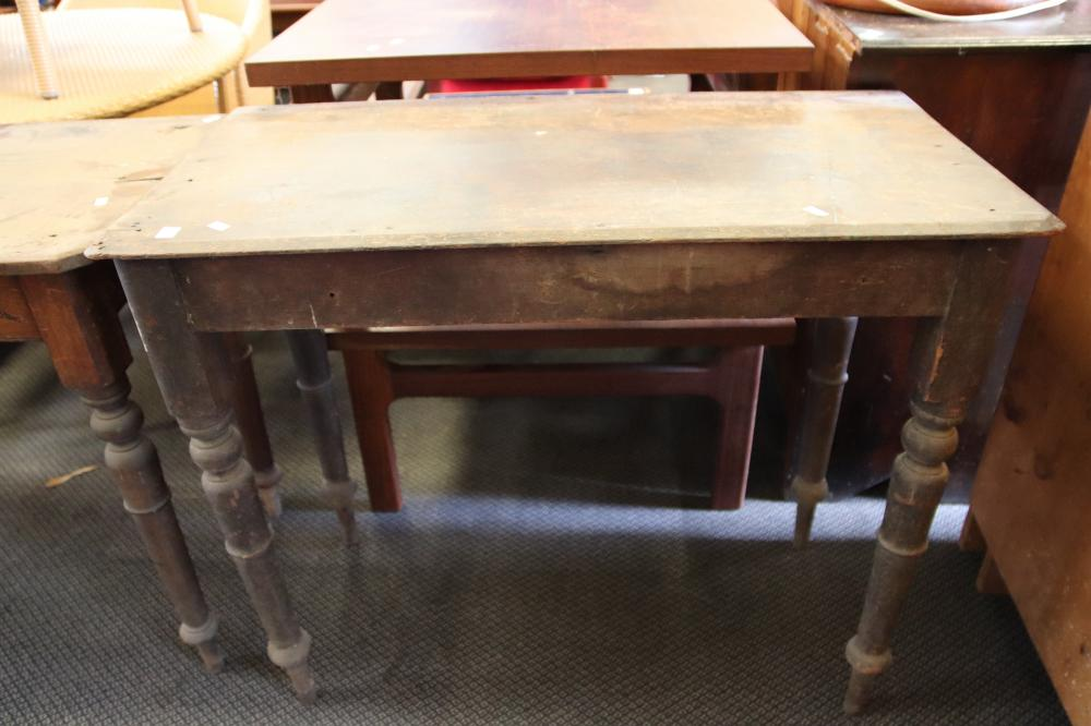 2 VICTORIAN SIDE TABLES