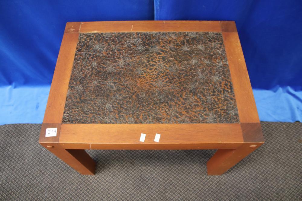 RETRO COPPER LOOK SIDE TABLE