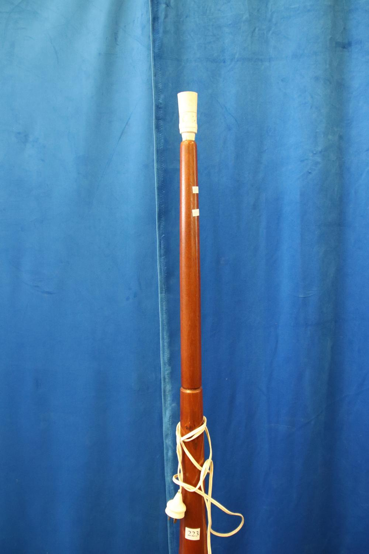 BENTWOOD RATTAN CHAIR & FLOOR LAMP
