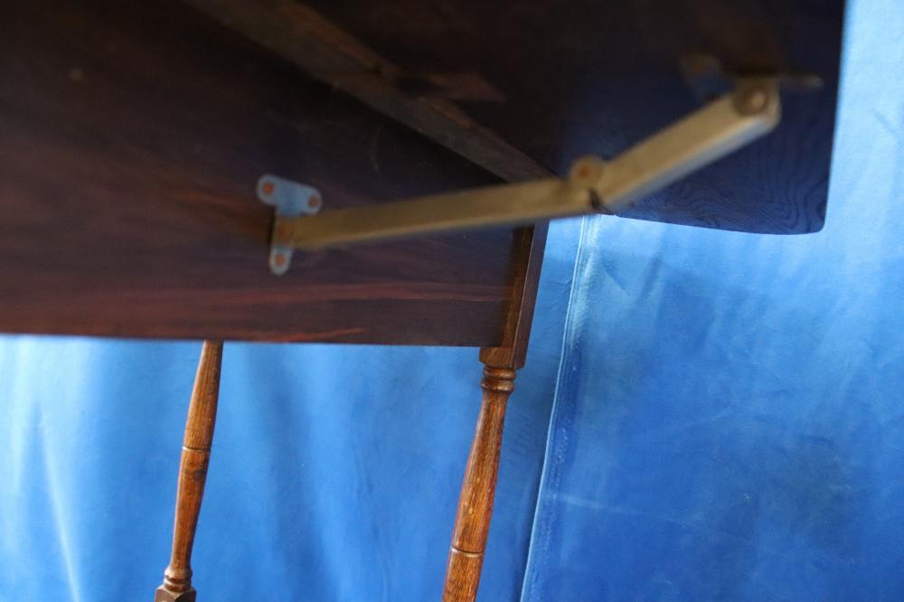 E/OAK DROPSIDE TEA TROLLEY WITH DRAWER