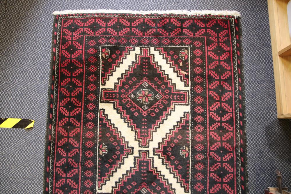 IRANIAN HAND KNOTTED, WOOL HALL RUNNER, 190CM X 1M