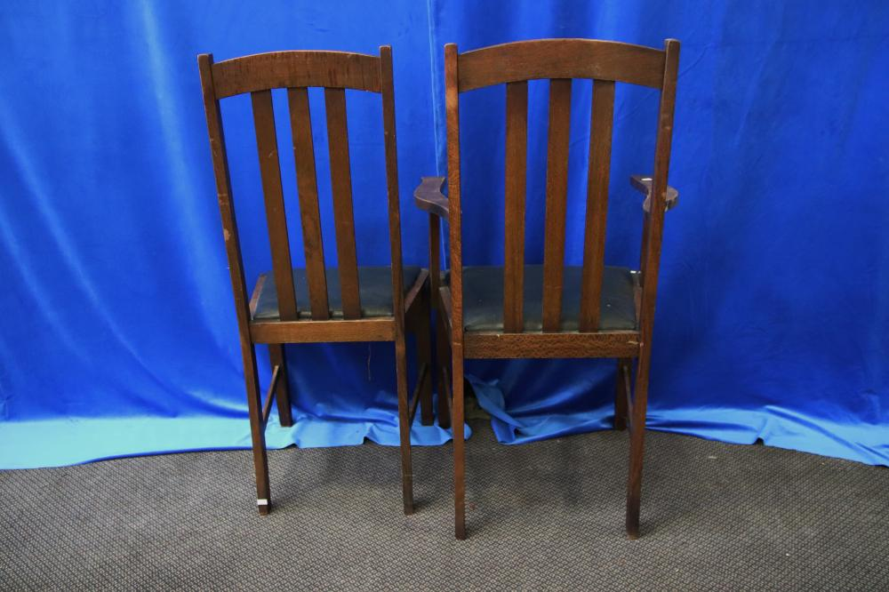 7 SILKY OAK DINING CHAIRS AS FOUND