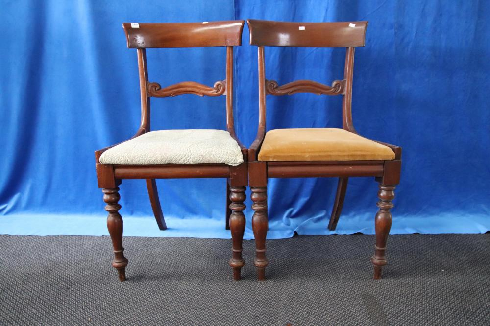 8 VICTORIAN DINING CHAIRS (MINOR DAMAGES)