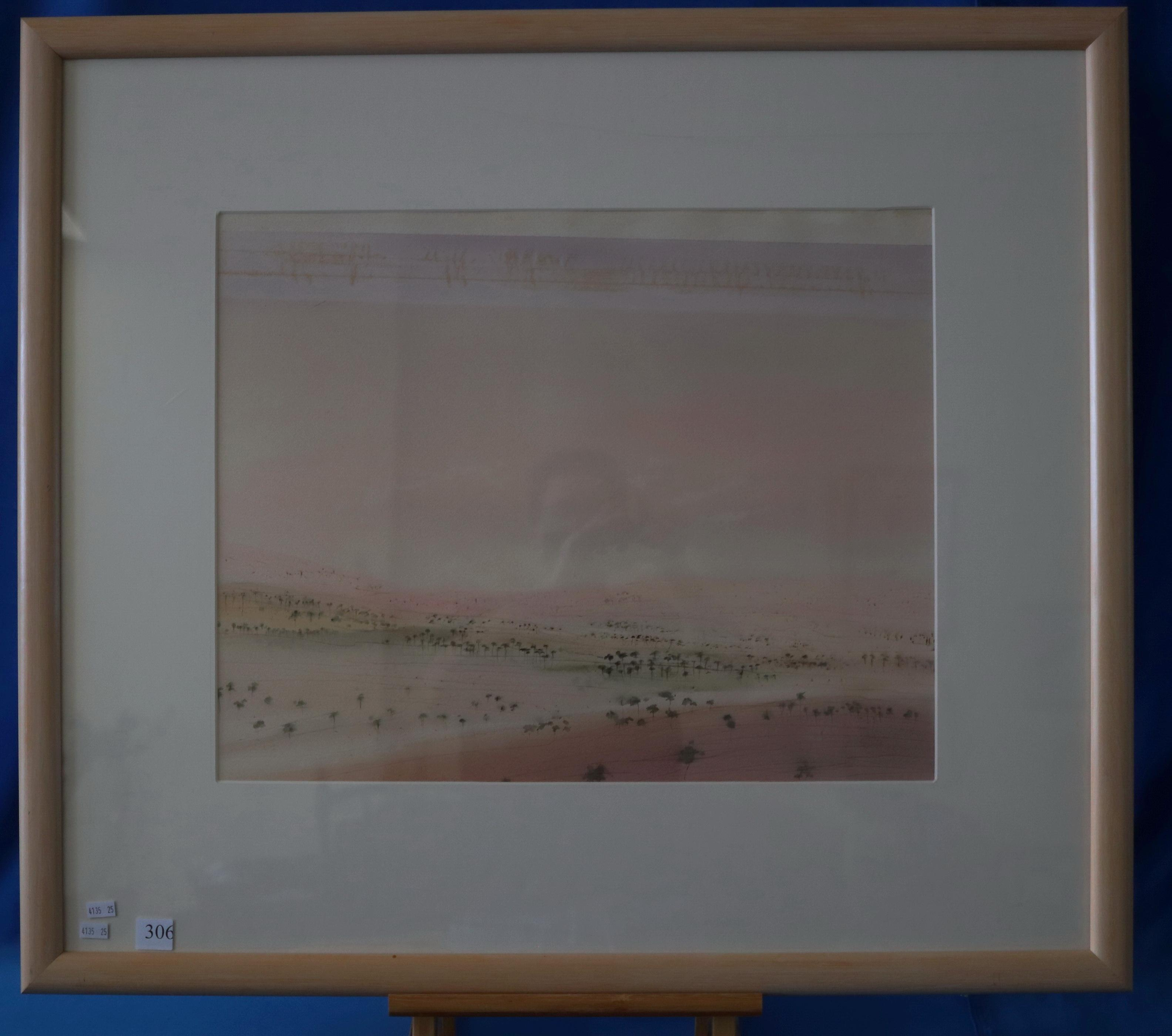 KATE SMITH DARLING DOWNS 1983 WATERCOLOUR ON PAPER 44.5 X 60
