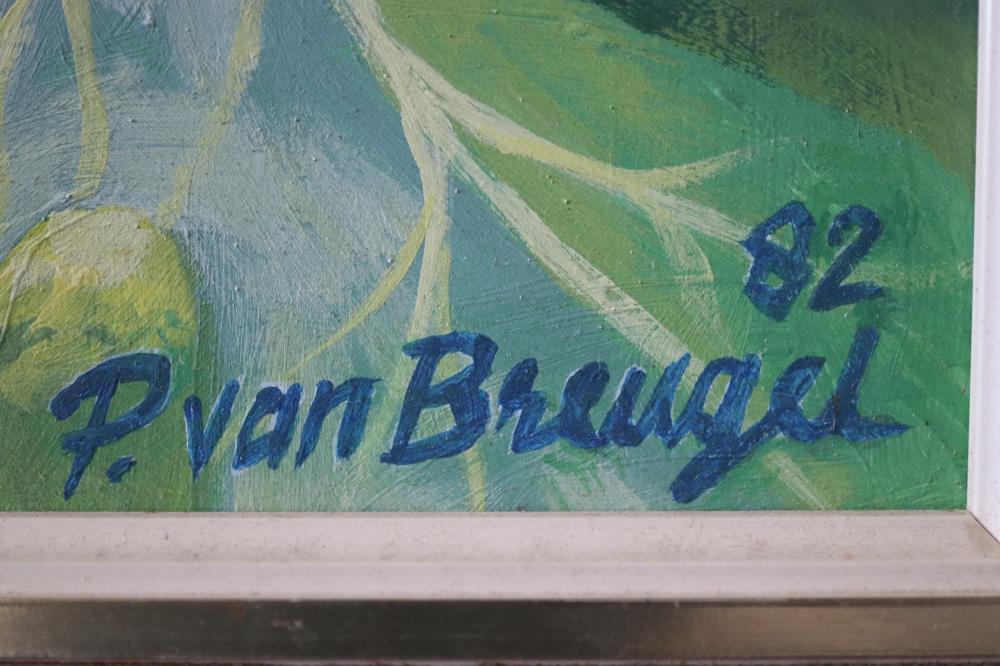 PETER VAN BREUGEL PARROT IN THE PAWPAW 1982 ACRYLIC ON HARDBOARD 74.5 X 59