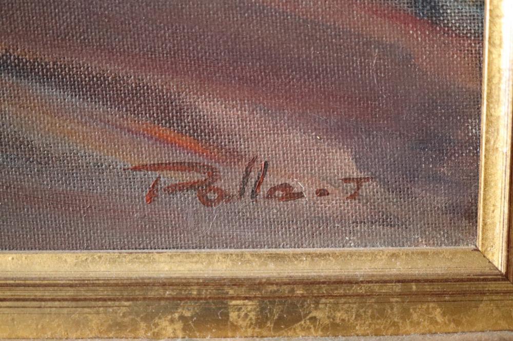 PALLA JEROFF FLORAL STUDY 1990 OIL ON CANVAS BOARD 49.5 X 59.5