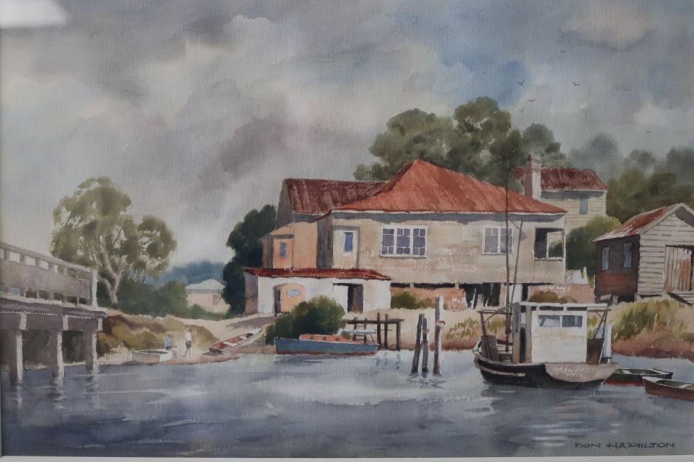 DON HAMILTON HASTINGS POINT 1992 WATERCOLOUR ON PAPER 35 X 52.5