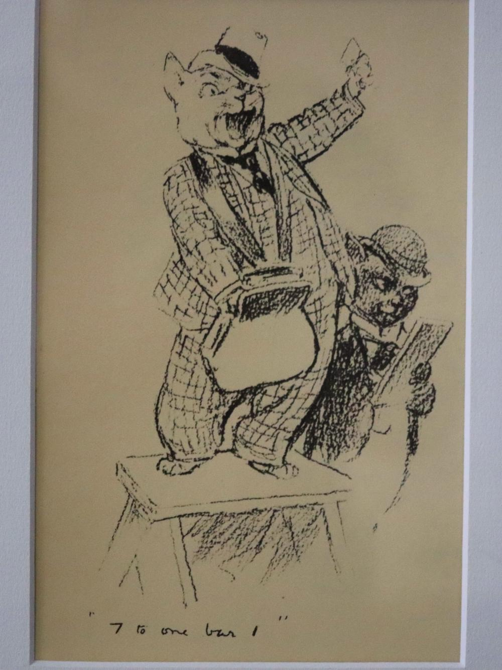 NORMAN LINDSAY'S BOOK PLATE PRINT 7 TO 1 BAR I