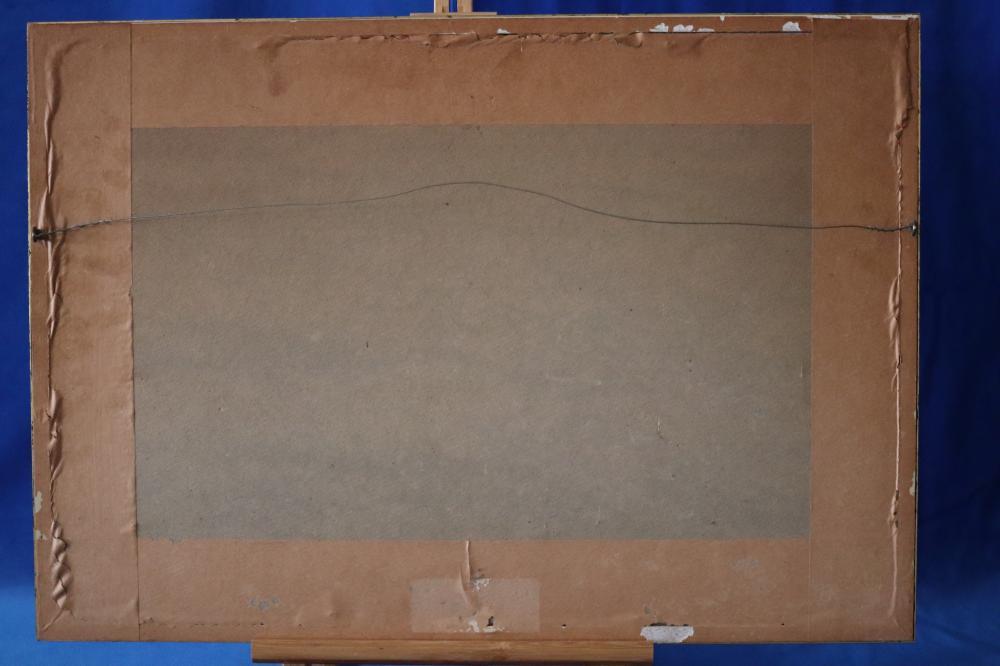 FRAMED SIGNED F ELLIOT WATERCOLOUR, MEASURES 47 X 27CM