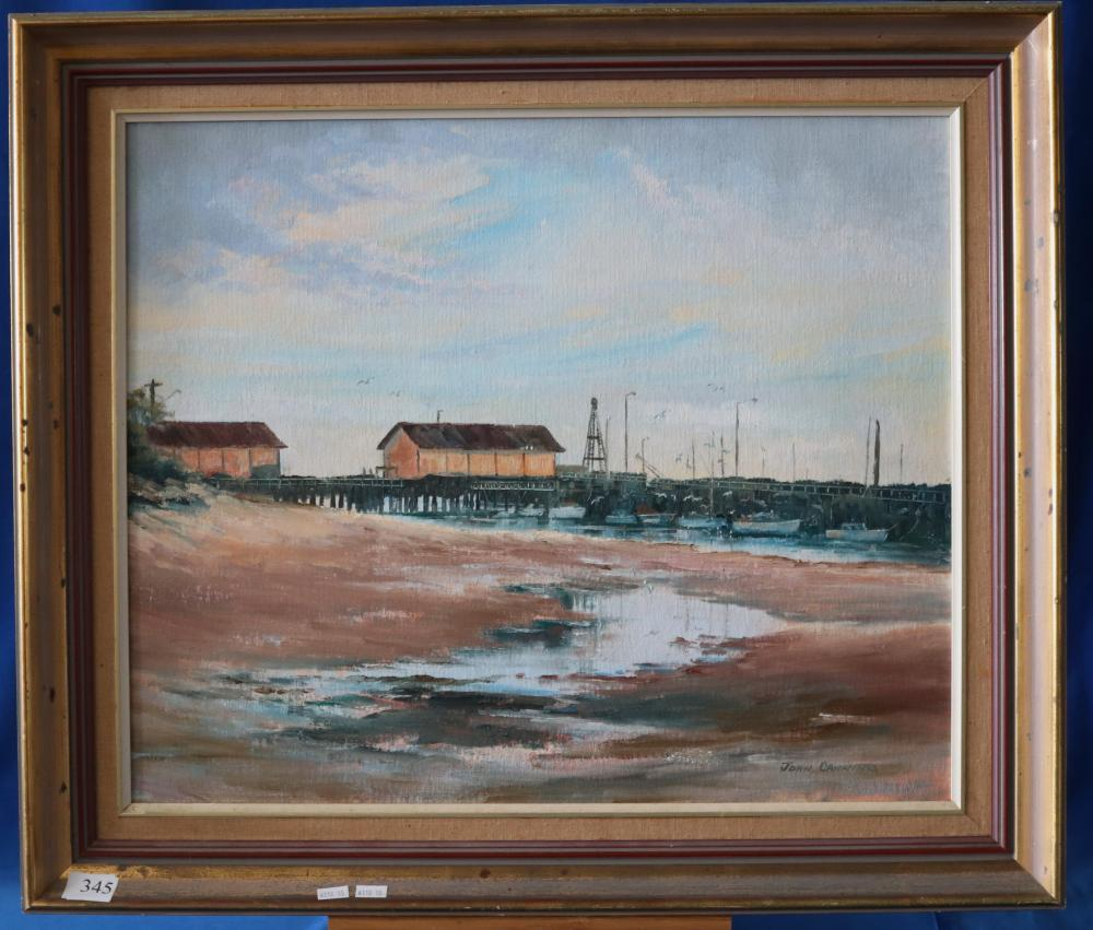 OIL ON BOARD COASTAL SCENE BY JOHN CANNING