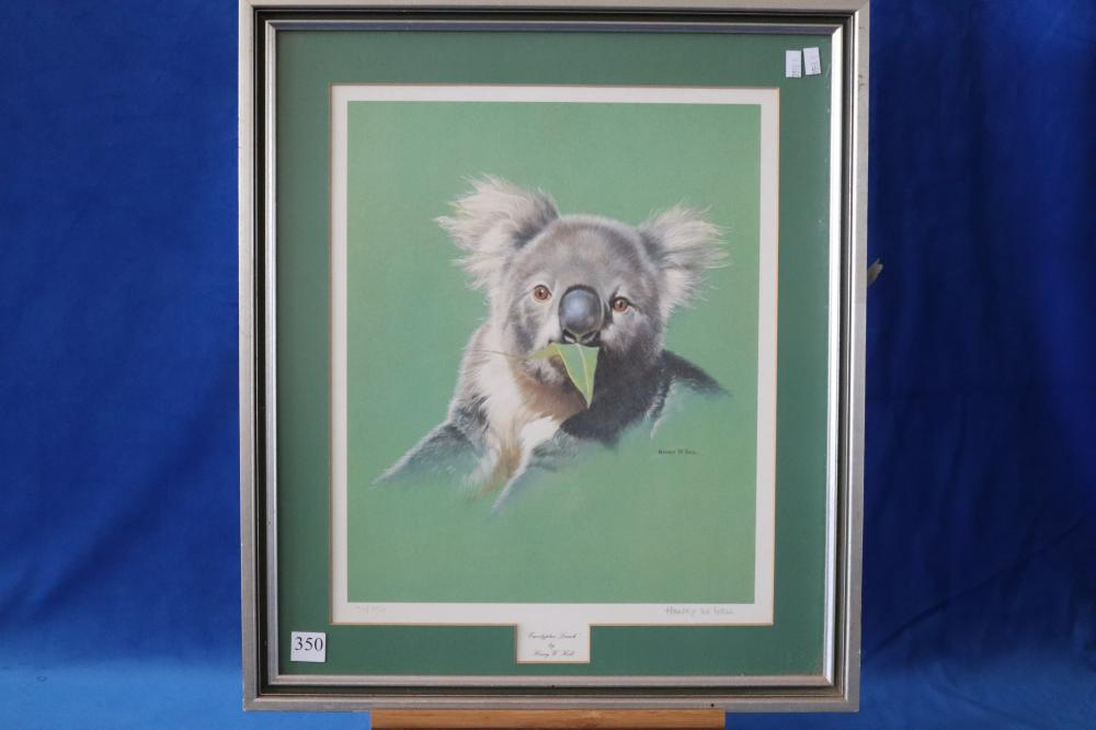 LIMITED EDITION SIGNED NUMBERED KOALA PASTEL PRINT BY HENRY HALL 30/850