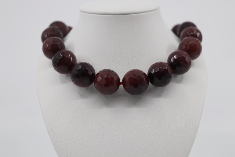 JASPER NECKLACE STERLING SILVER CLASP