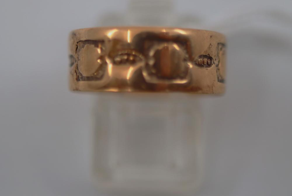 14CT YELLOW GOLD BAND RING, 1.8 GRAMS, SIZE Q