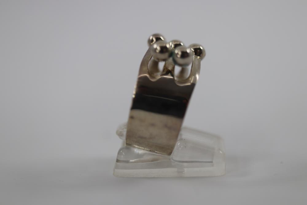 SCANDINAVIAN SILVER RING, 6.8 GRAMS, SIZE P