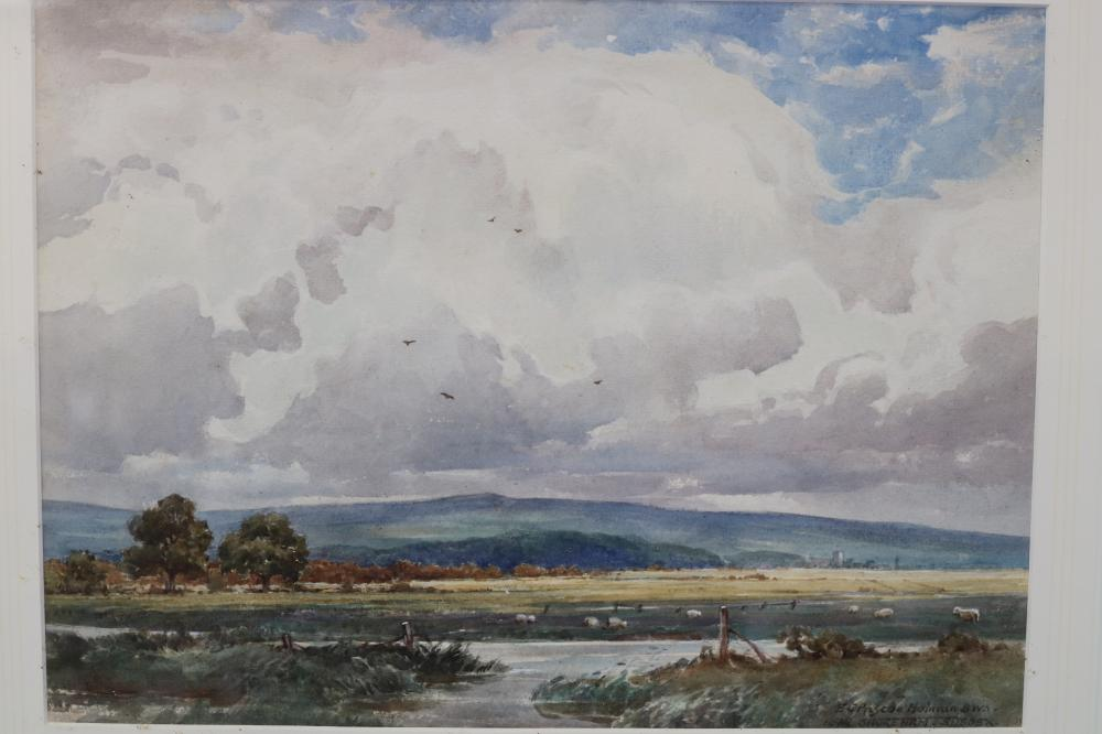 EDWIN CHARLES PASCOE HOLMAN BWS (BRITISH, 1882-1955) NEAR SHOREHAM, SUSSEX, WATERCOLOUR ON PAPER, SIGNED LOWER RIGHT, MEASURES 27CM X 37CM