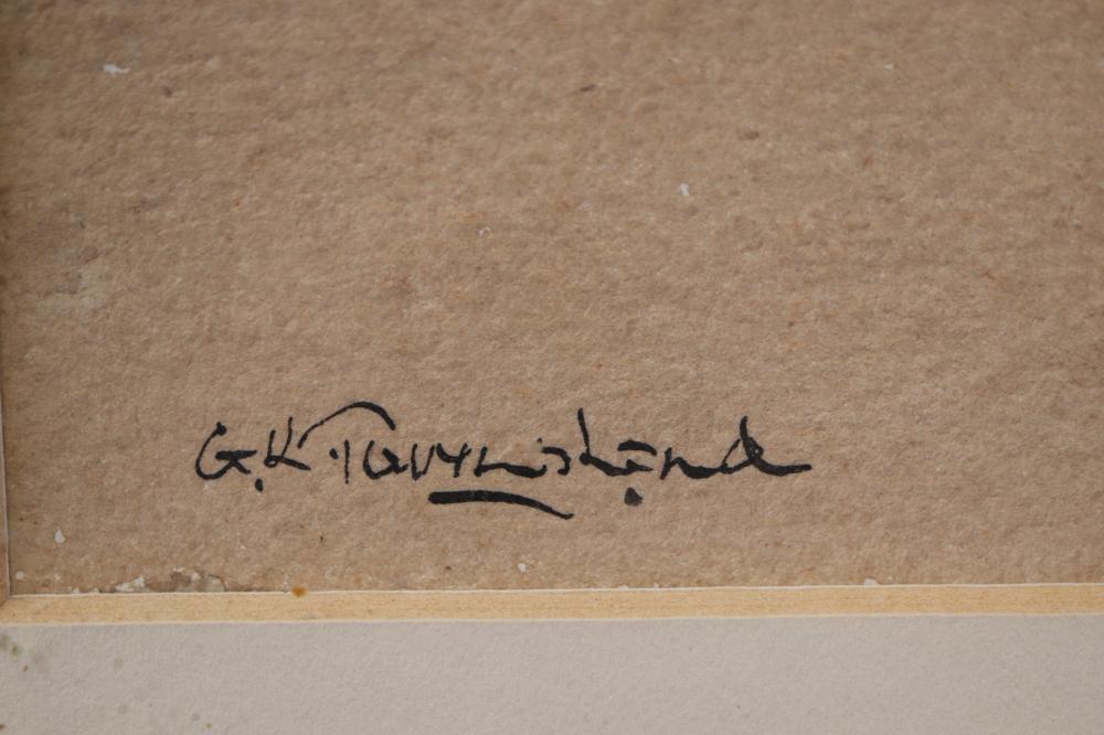 GRAEME K TOWNSEND (1954-) WATERCOLOUR ON PAPER, SIGNED LOWER LEFT, MEASURES 32CM X 41CM