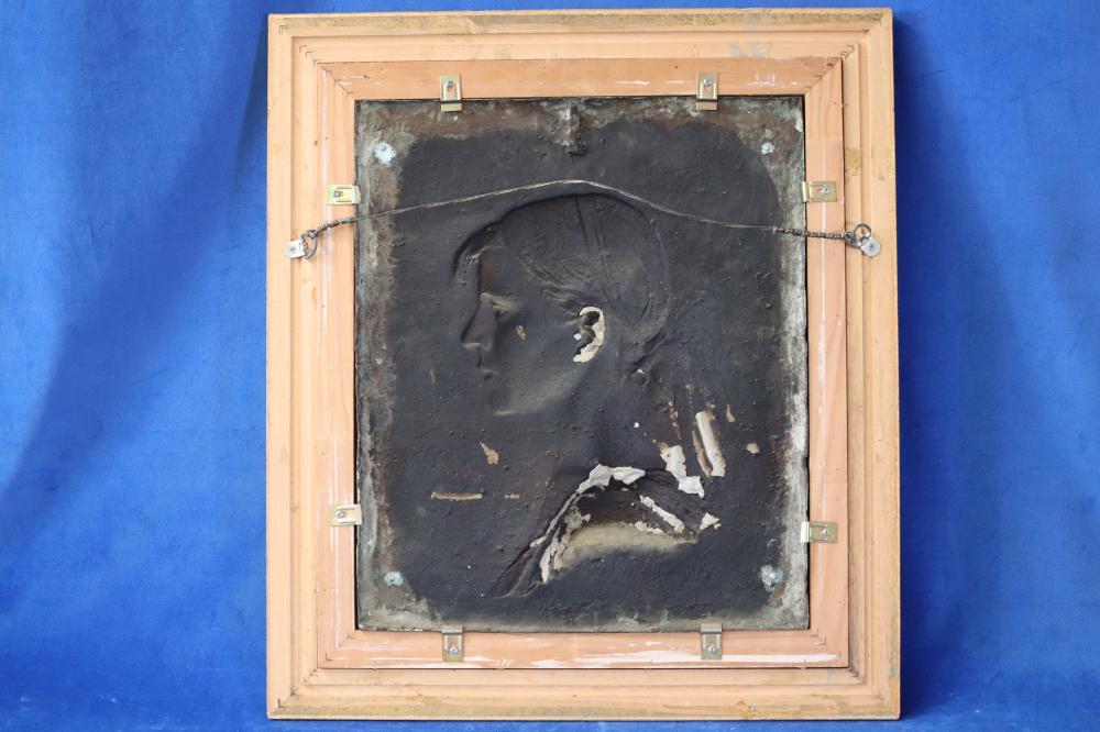 ACHILLE CHAINAYE (BELGIAN, 1862-1915) BRONZE, SIGNED IN THE BRONZE LOWER LEFT, MEASURES 48.5CM X 41CM