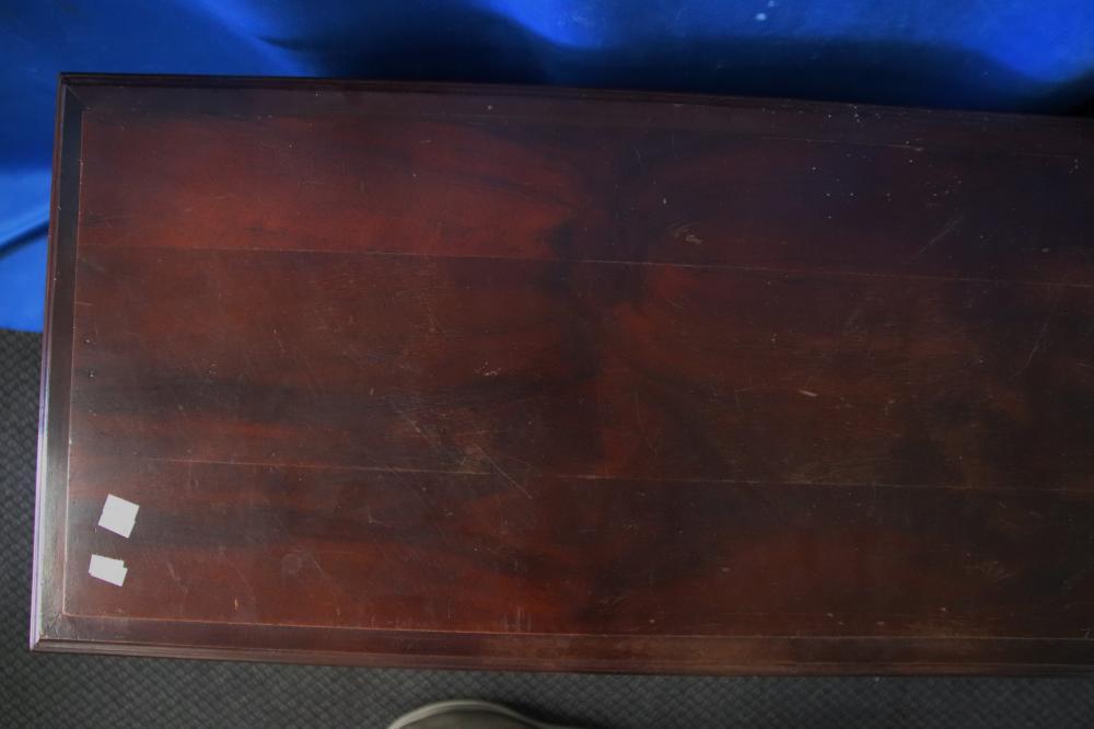 CASSONE STYLE WOODEN TRUNK , WITH SQUARE PANELES, 150 CM W X 40CM D X 47CM H