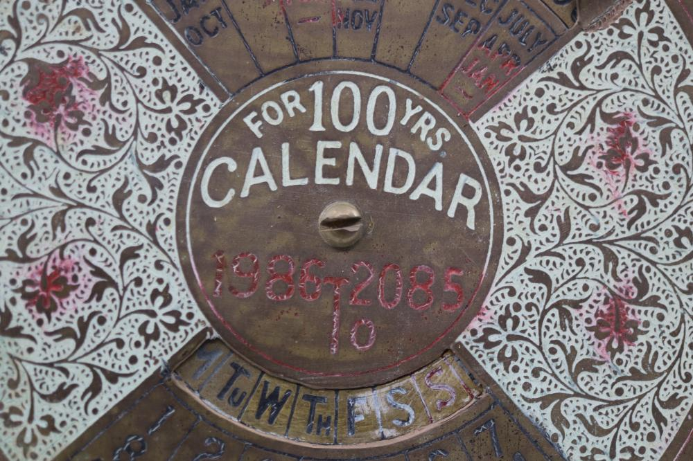 INDIAN BRASS PERPETUAL CALENDAR