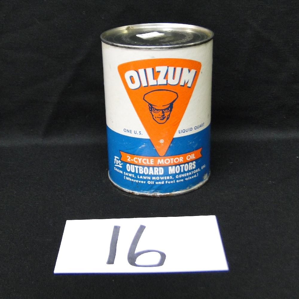 Oilzum Outboard 2-cycle Motor Oil Can