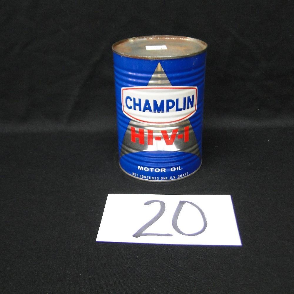 Champlin Hi-V-I Motor Oil Can