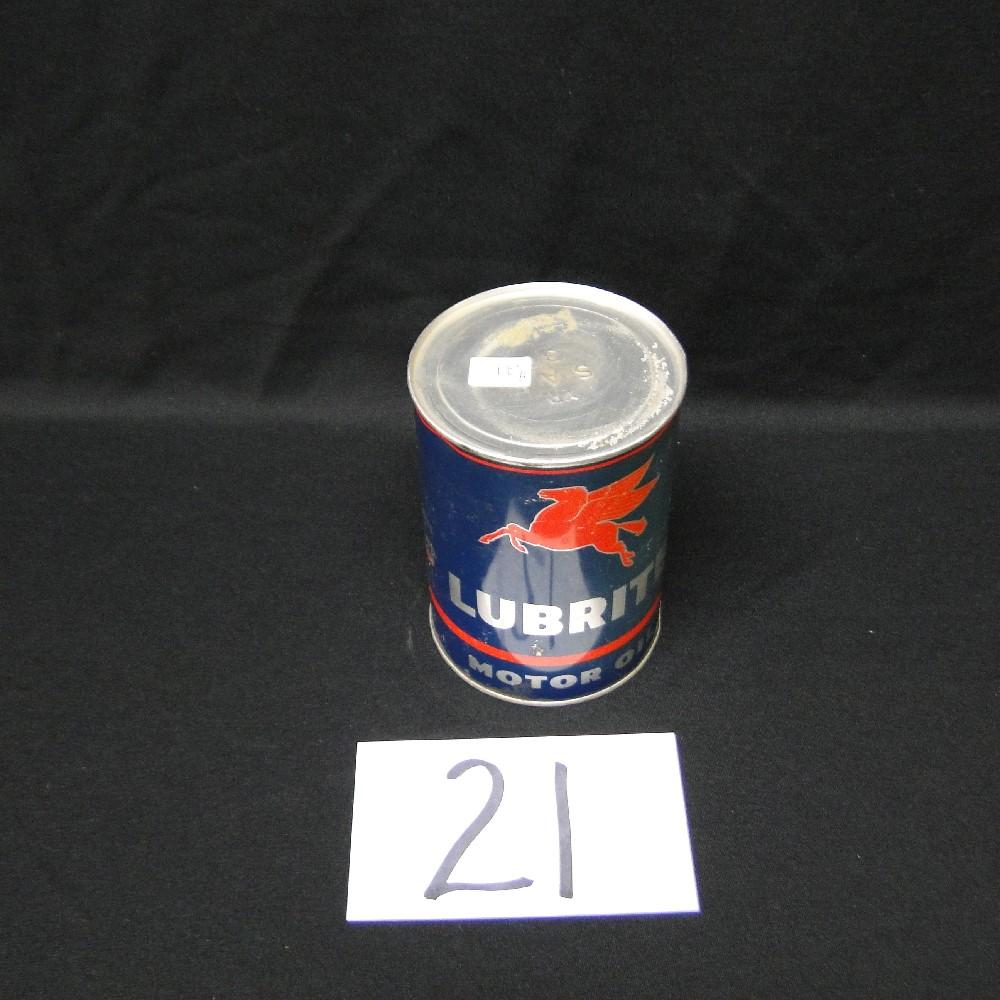 Mobil Lubrite Motor Oil Can