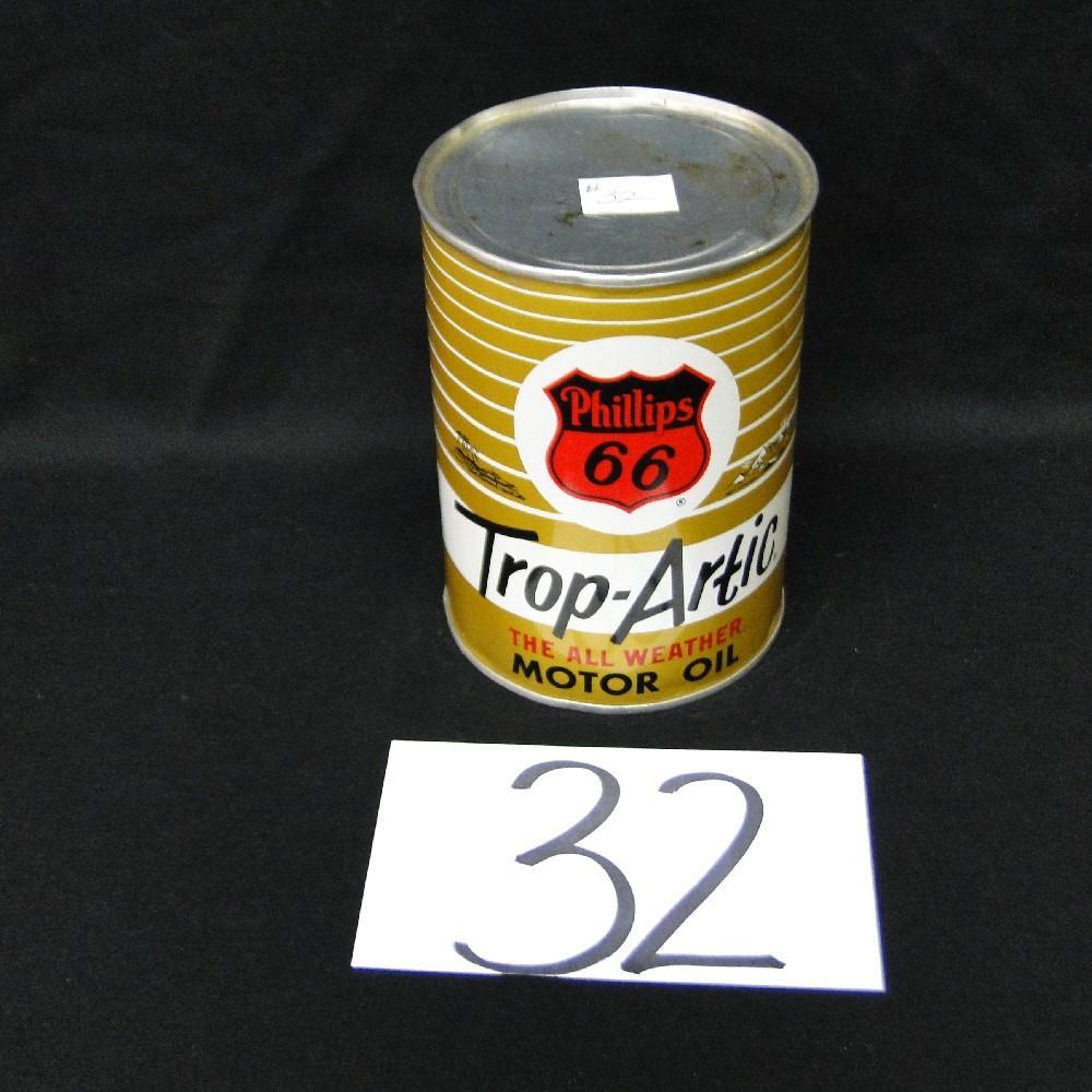 Phillips 66 Trop-Artic Motor Oil Can