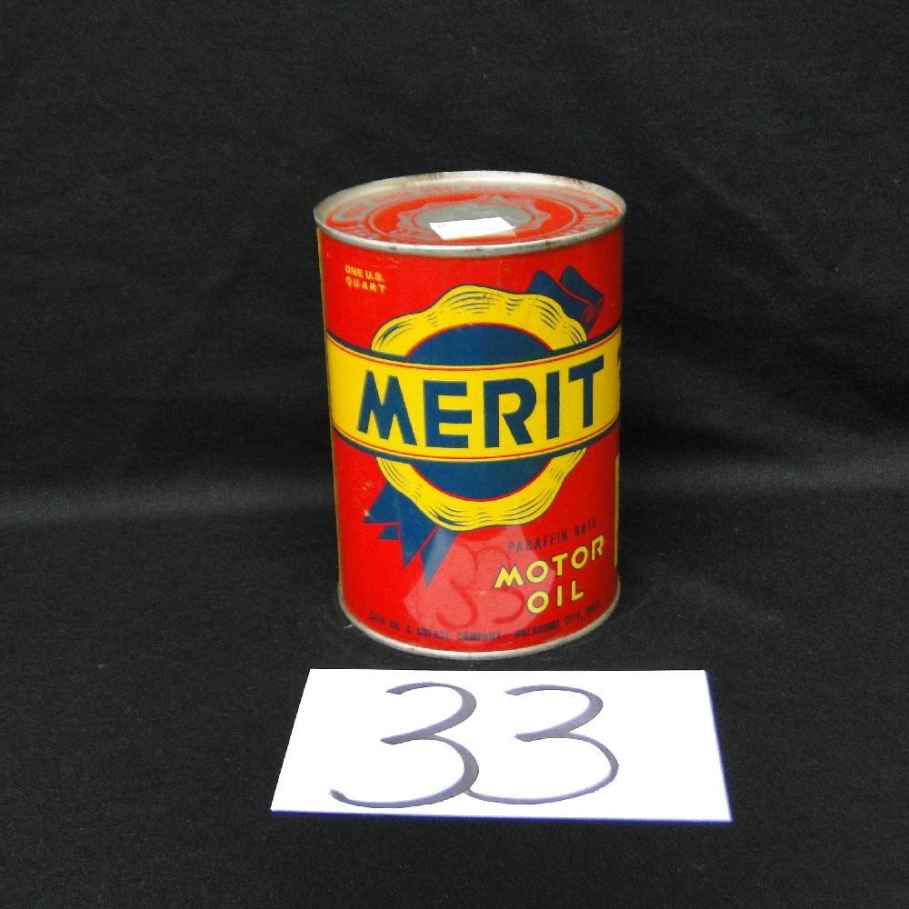 Merit Motor Oil Can