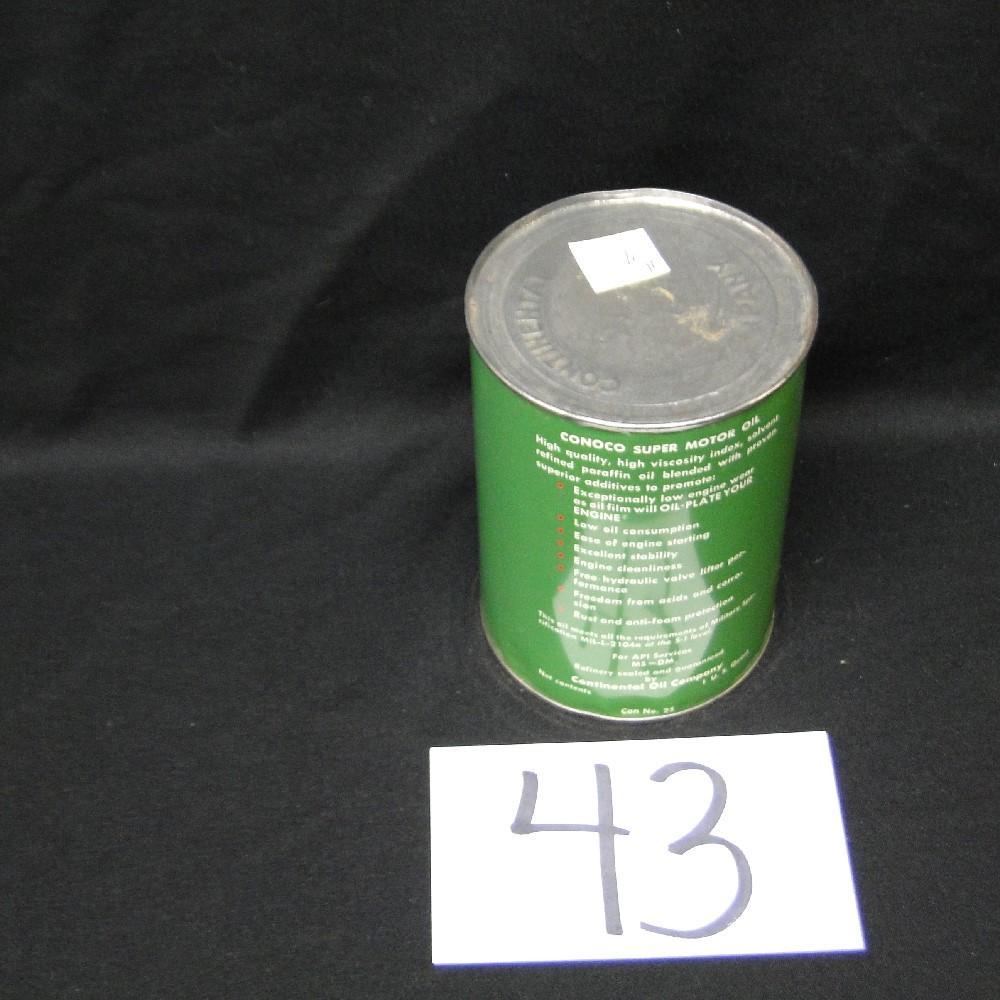 Conoco Super Motor Oil Can