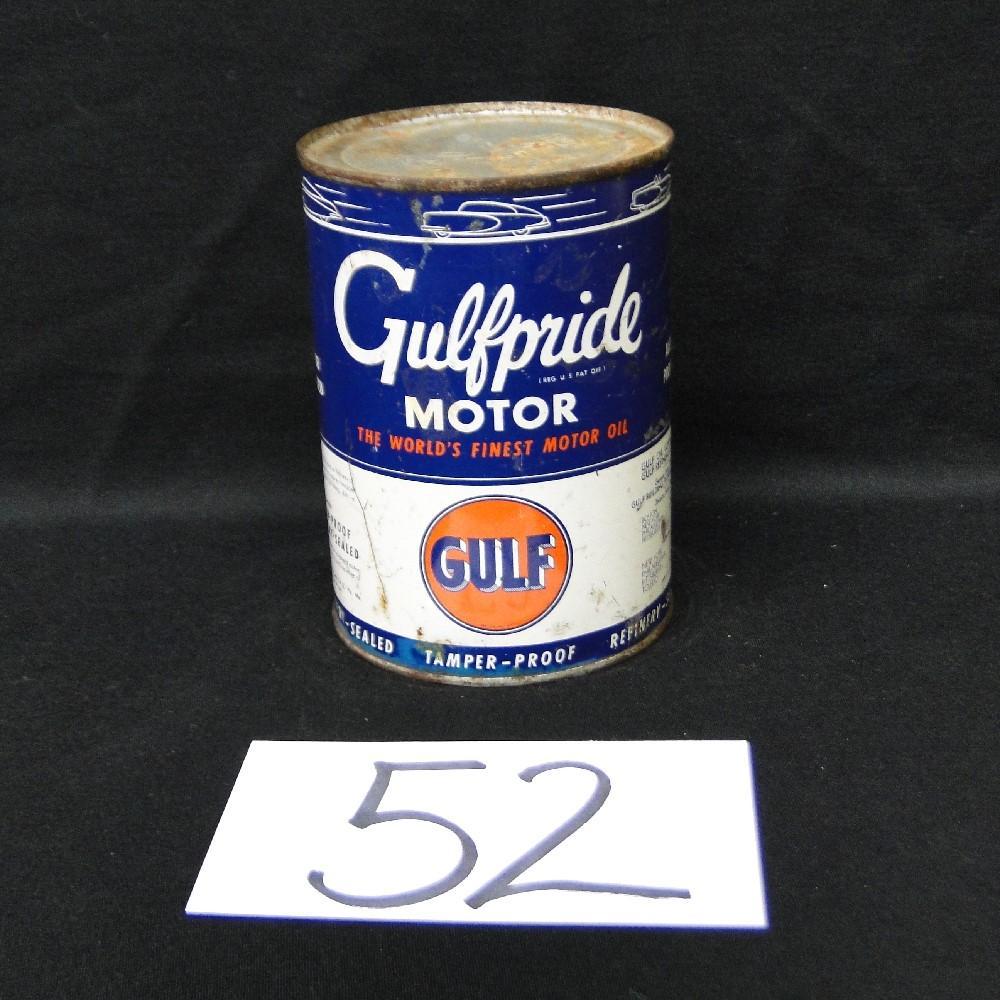 Gulfpride Motor Oil Can