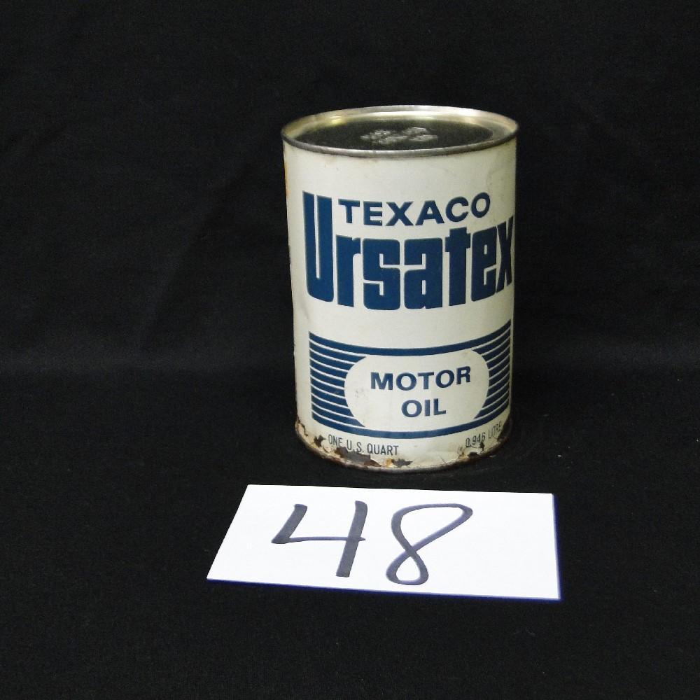 Texaco Ursatex Motor Oil Can