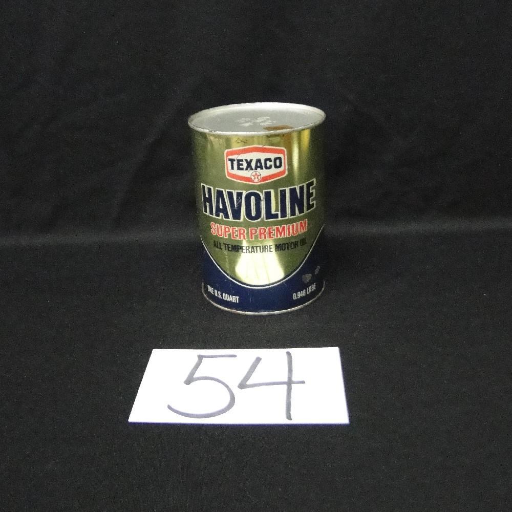 Texaco Havoline Super Premium Motor Oil Can