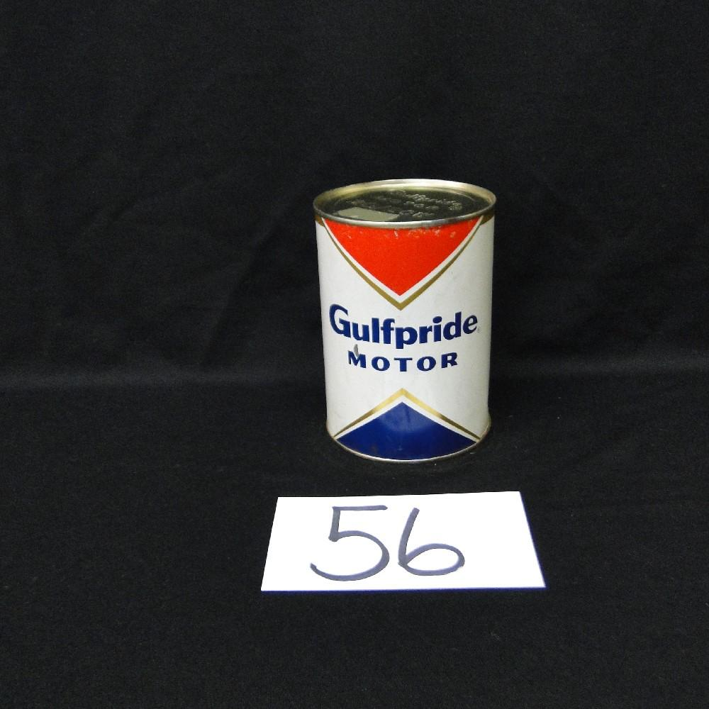 Gulfpride Motor Oil Can