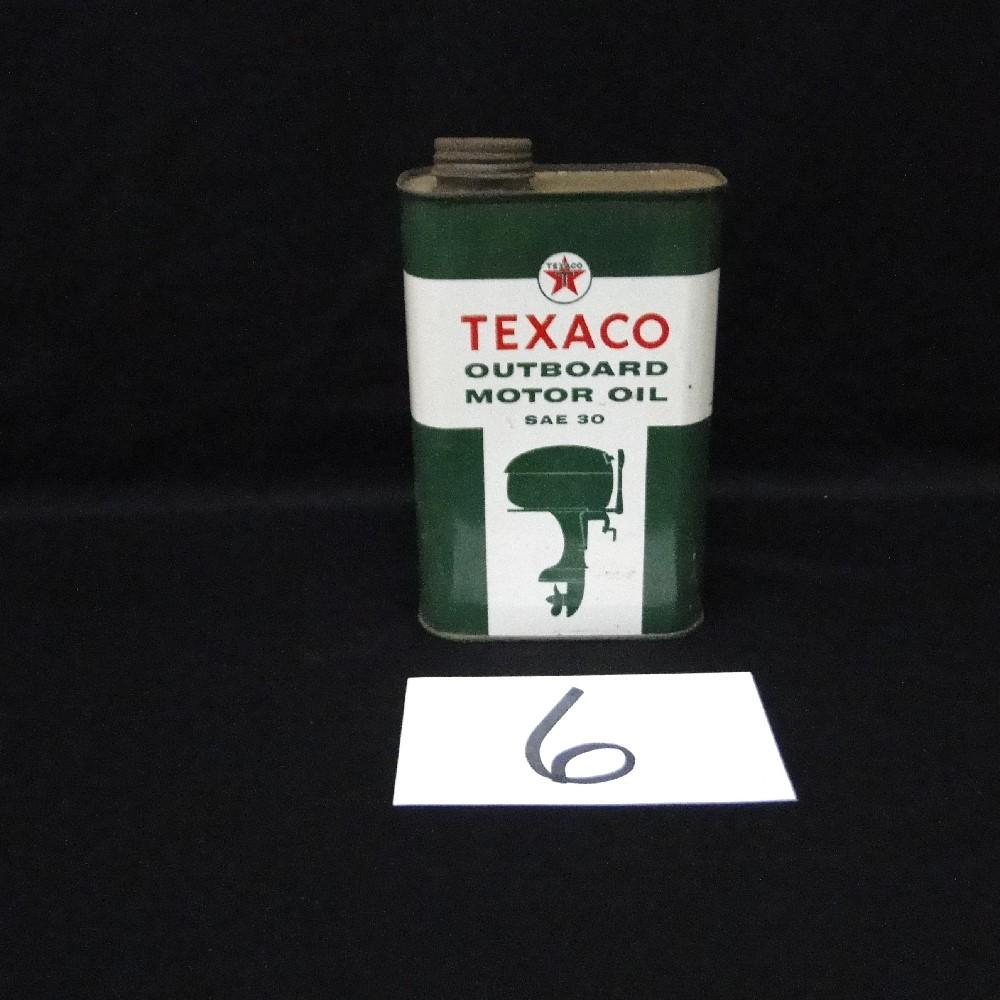 Texaco Outboard Motor Oil Can