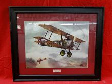 """Framed print titled """"Sopwith Camel 1917"""" by"""