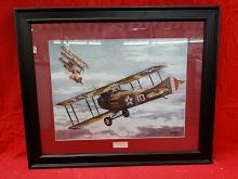 """Framed print titled """"French Spad 1916"""" by Alfred"""