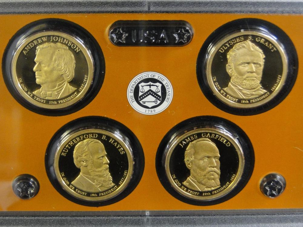 3 Proof Sets of Presidential $1