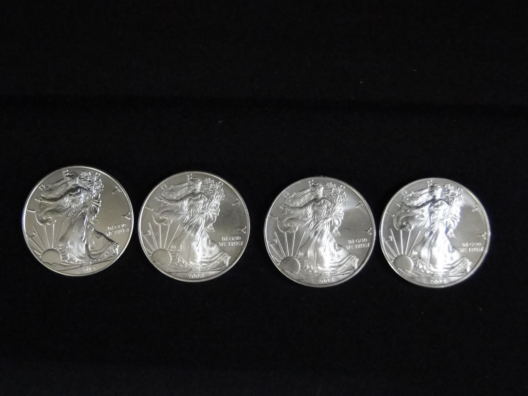 4 Silver Eagles