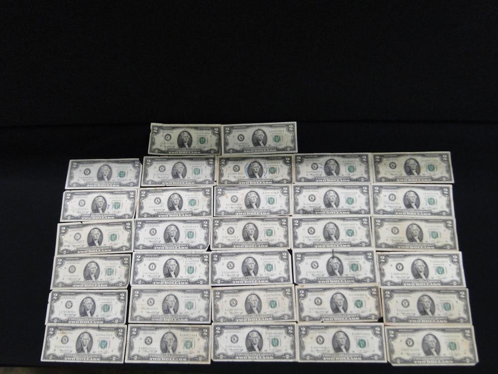 32 $2. Bills