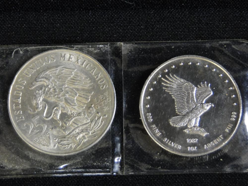 1968 Mexico Olympic Games Silver Coin